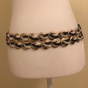Accessories - Navy and White chain link nautical belt